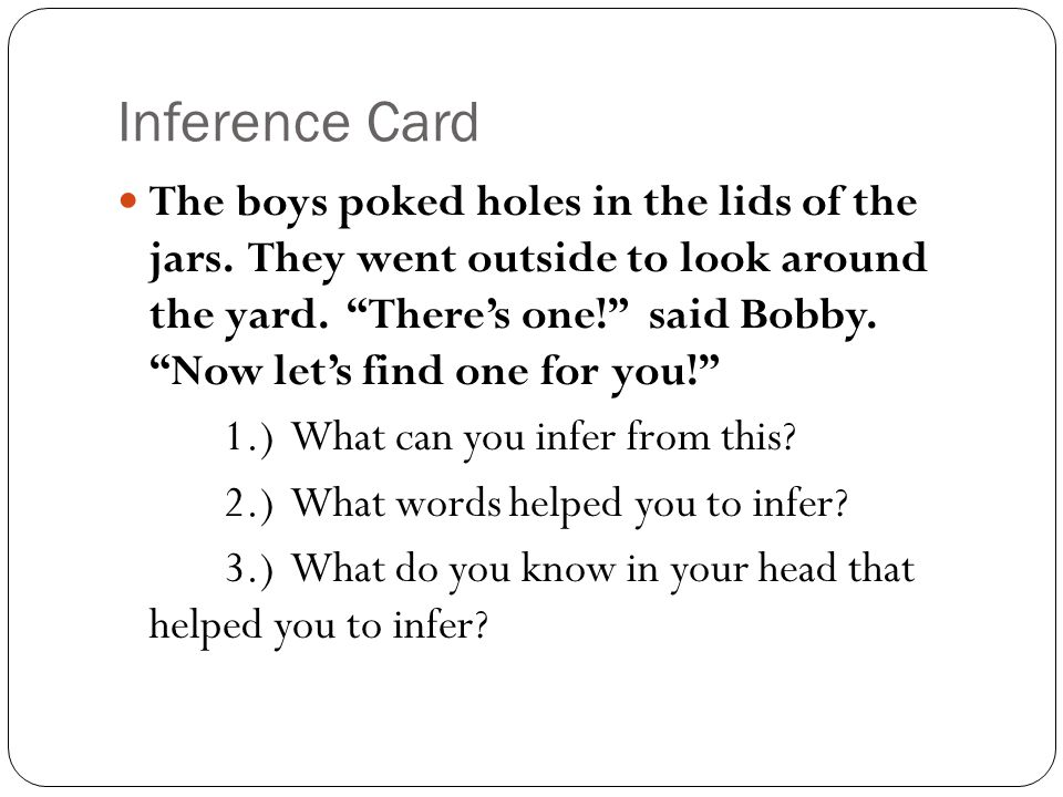 Inference Card
