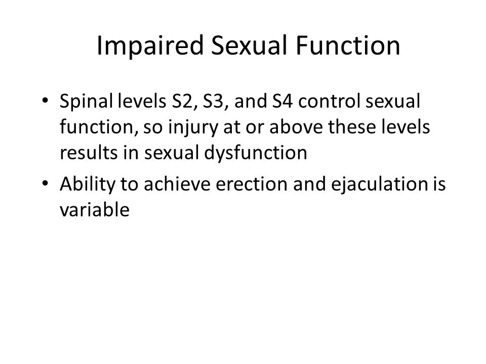 Impaired Sexual Function