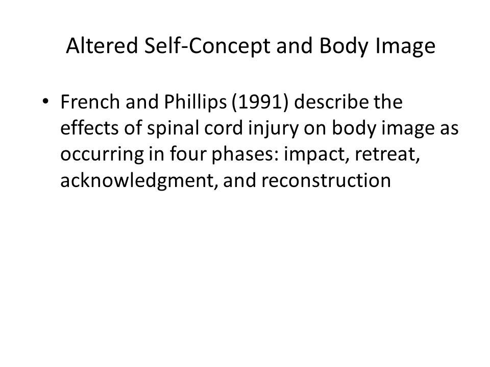 Altered Self-Concept and Body Image