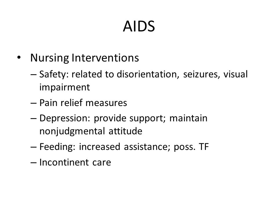 AIDS Nursing Interventions