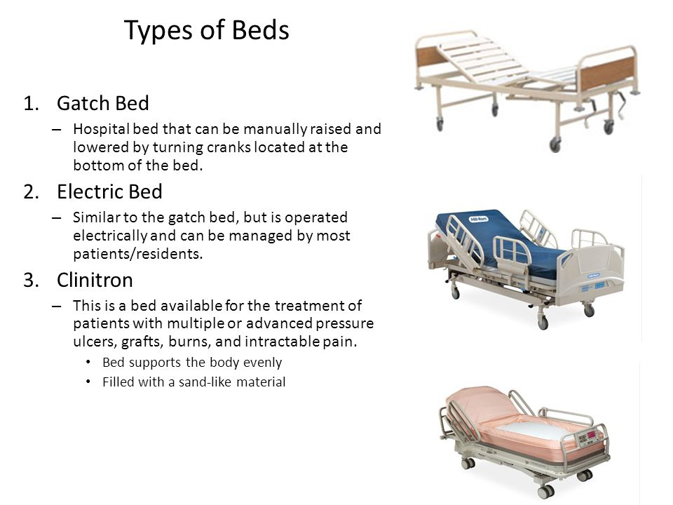 Types of Beds Gatch Bed Electric Bed Clinitron