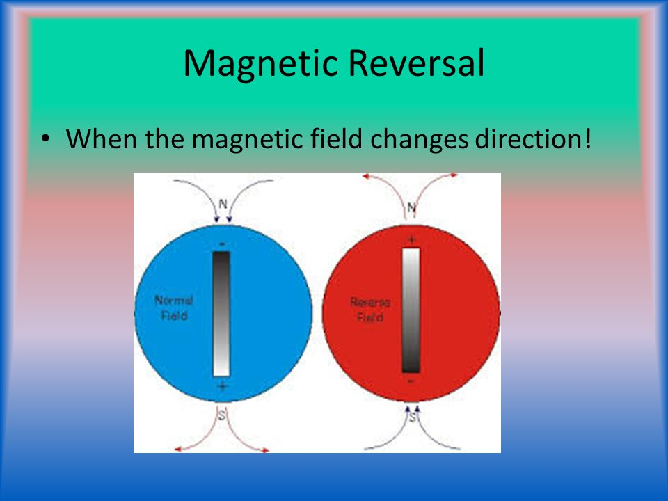Magnetic Reversal When the magnetic field changes direction!