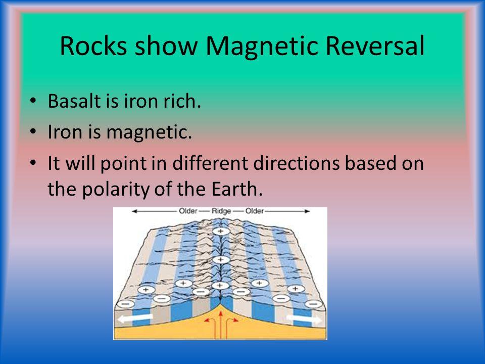 Rocks show Magnetic Reversal