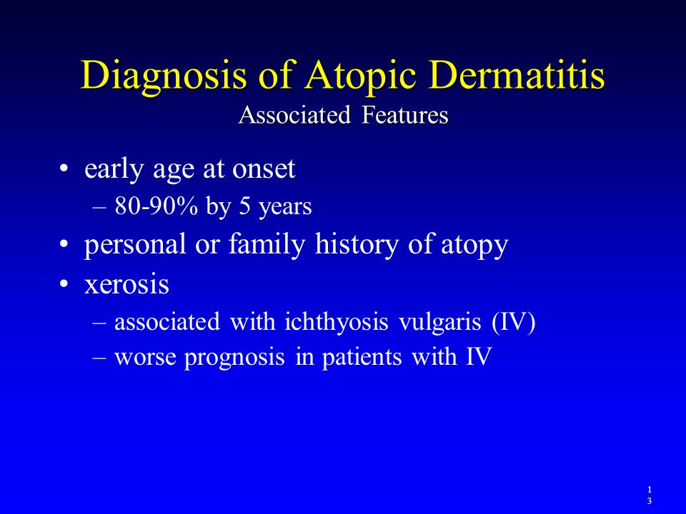 Diagnosis of Atopic Dermatitis Associated Features