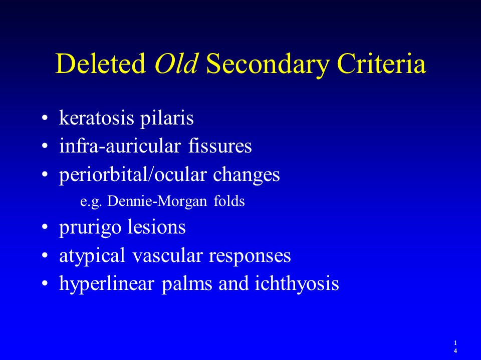 Deleted Old Secondary Criteria