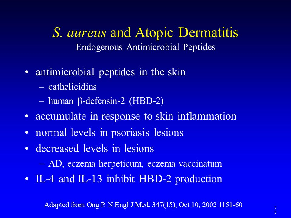 S. aureus and Atopic Dermatitis Endogenous Antimicrobial Peptides