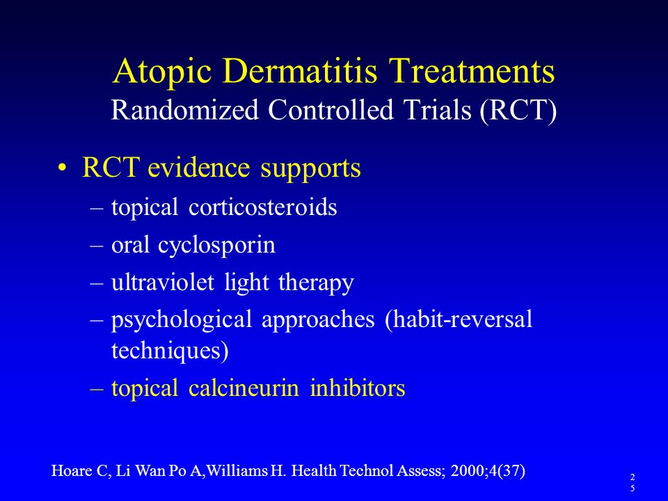 Atopic Dermatitis Treatments Randomized Controlled Trials (RCT)