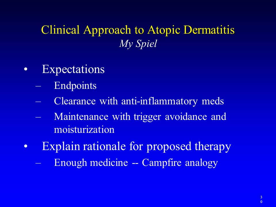 Clinical Approach to Atopic Dermatitis My Spiel