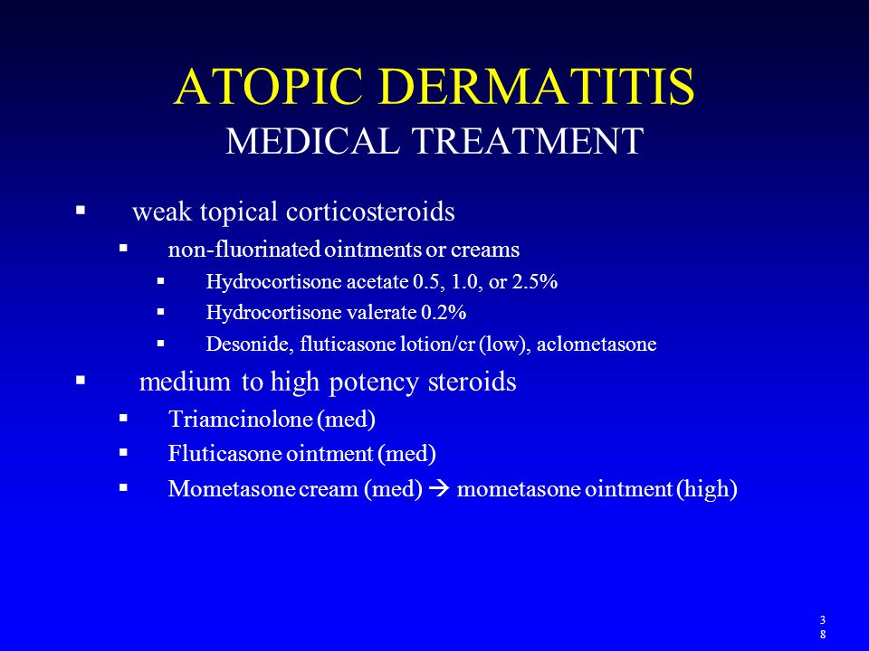 ATOPIC DERMATITIS MEDICAL TREATMENT