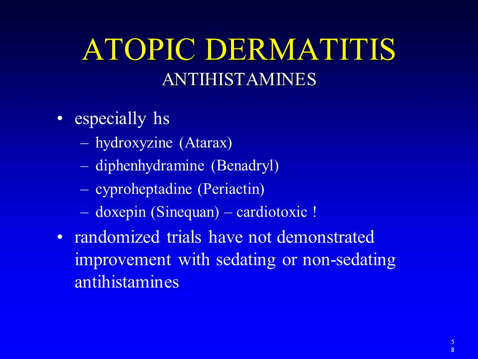 ATOPIC DERMATITIS ANTIHISTAMINES