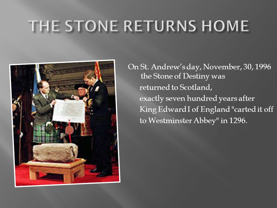 THE STONE RETURNS HOME