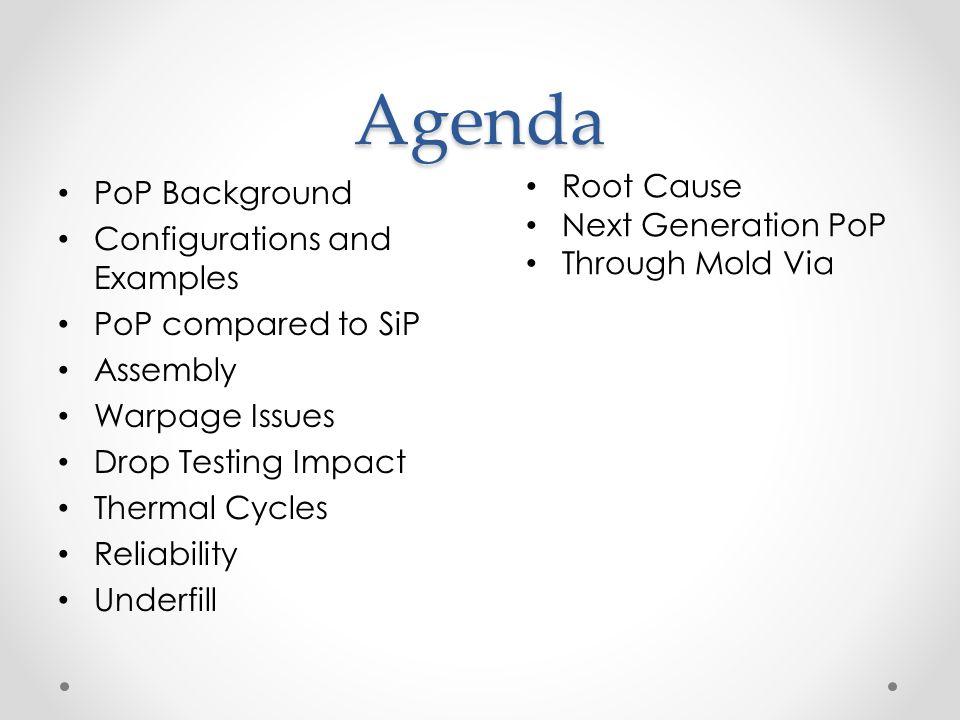 Agenda Root Cause PoP Background Next Generation PoP