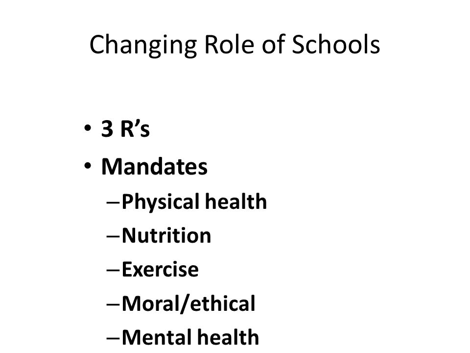 Changing Role of Schools
