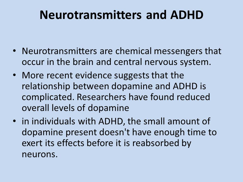 Neurotransmitters and ADHD
