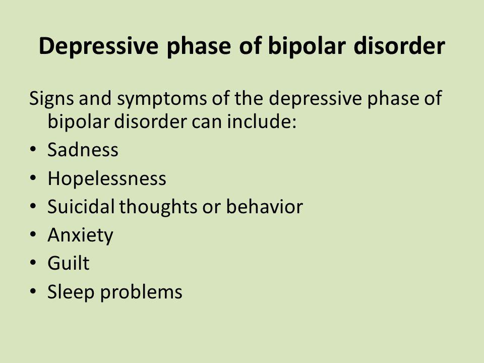 Depressive phase of bipolar disorder