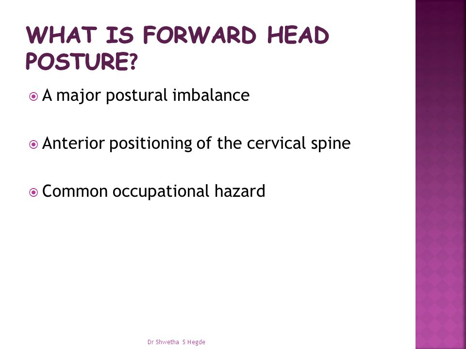What is forward head posture