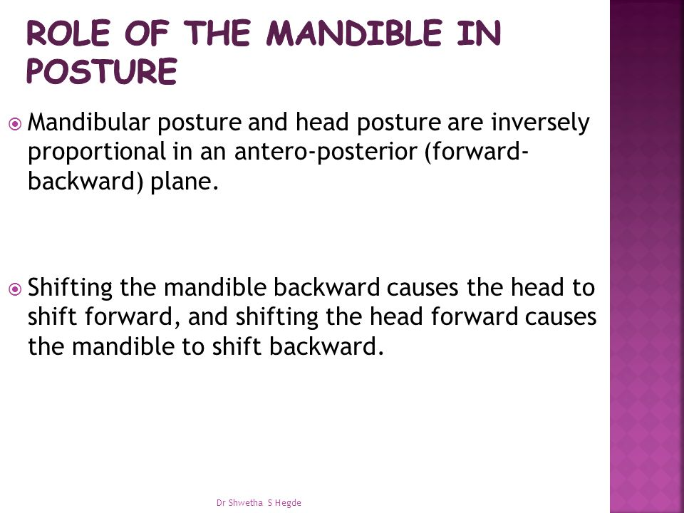 Role of the mandible in posture