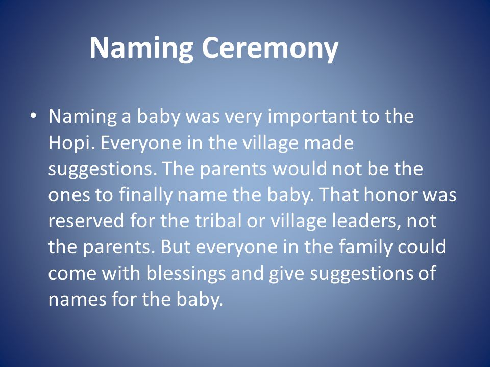 Naming Ceremony