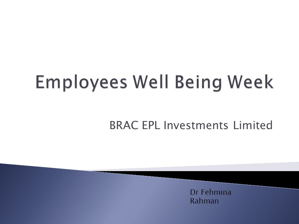 Employees Well Being Week