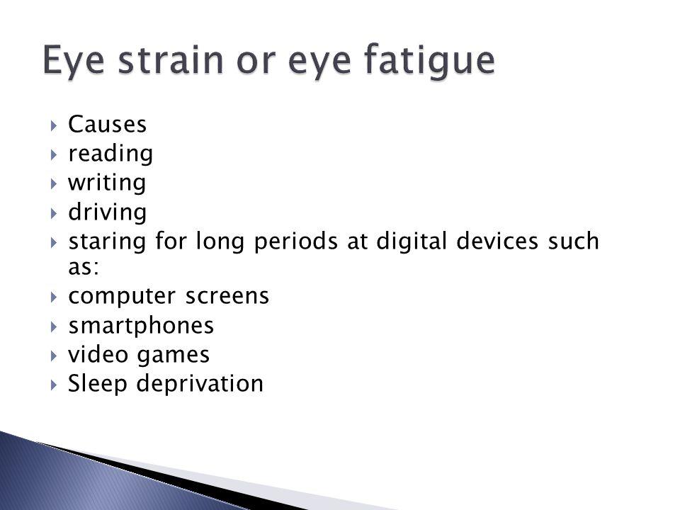 Eye strain or eye fatigue