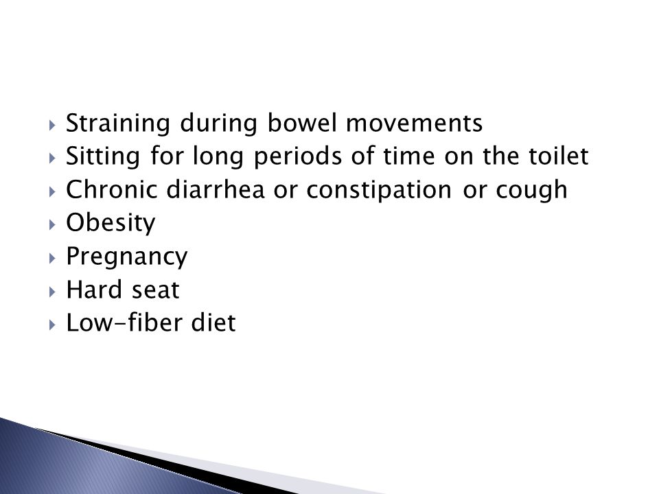 Straining during bowel movements