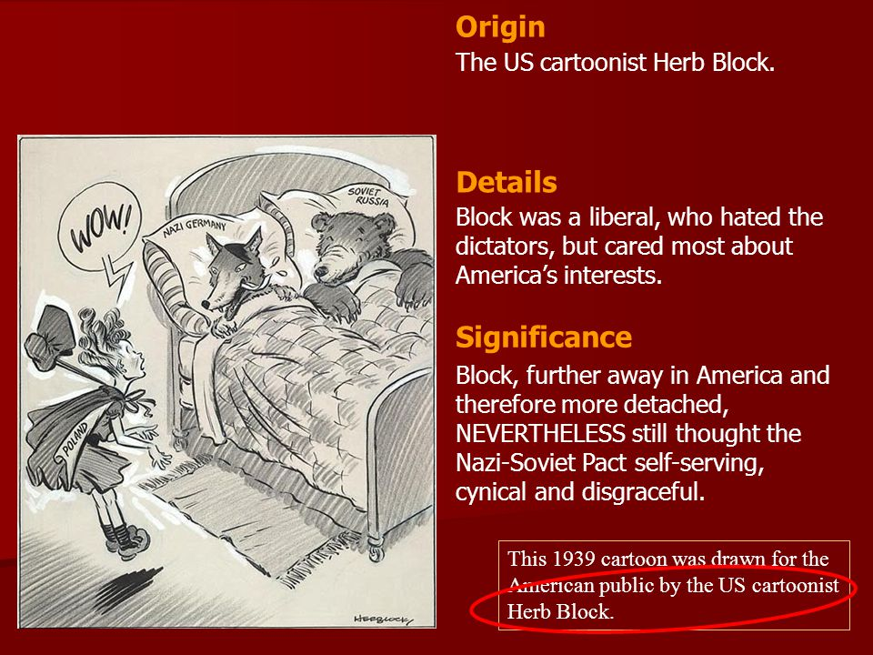 Origin Details Significance The US cartoonist Herb Block.