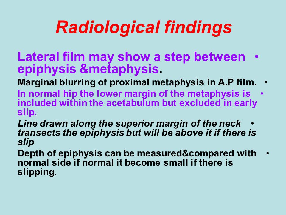 Radiological findings