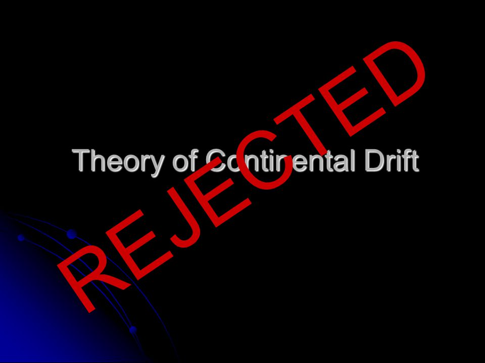 what is continental drift theory pdf