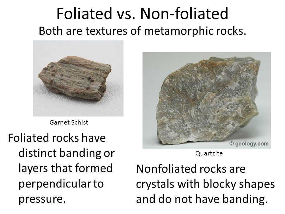 Foliated vs. Non-foliated