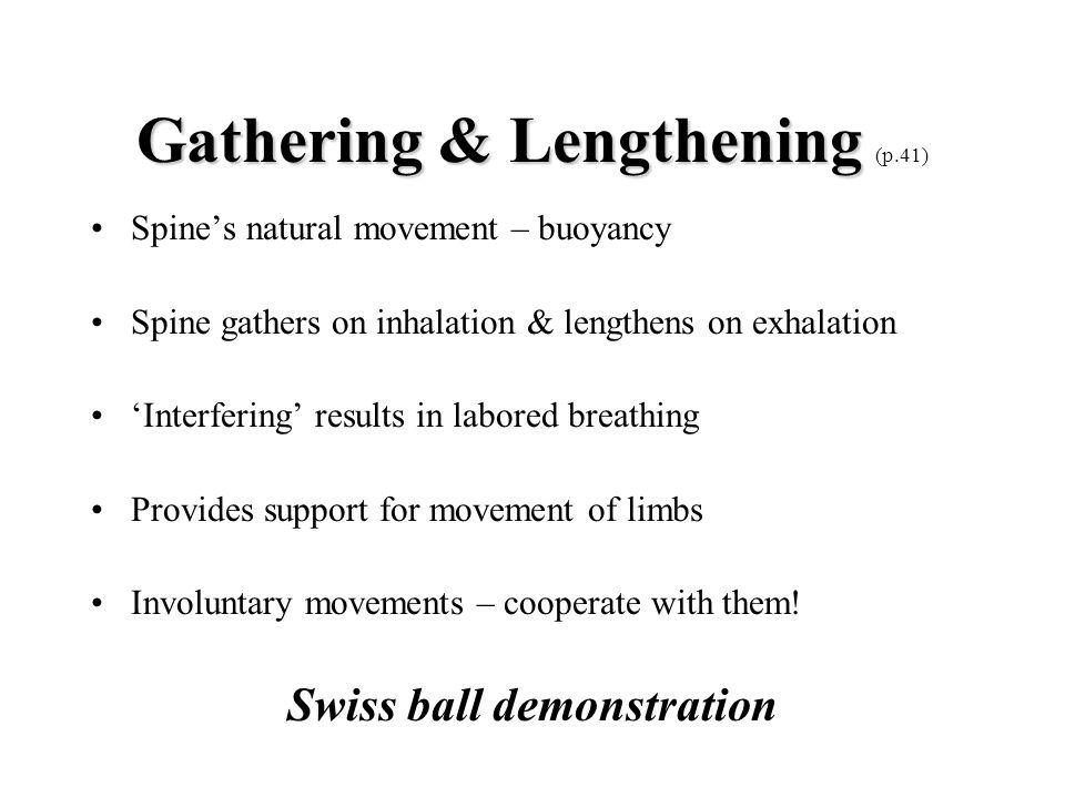 Gathering & Lengthening (p.41)