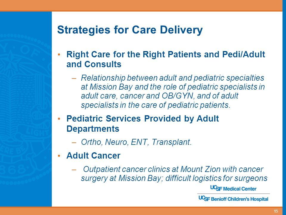 Strategies for Care Delivery
