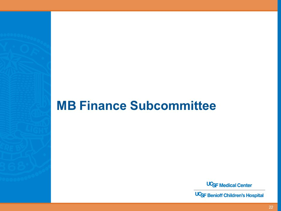 MB Finance Subcommittee