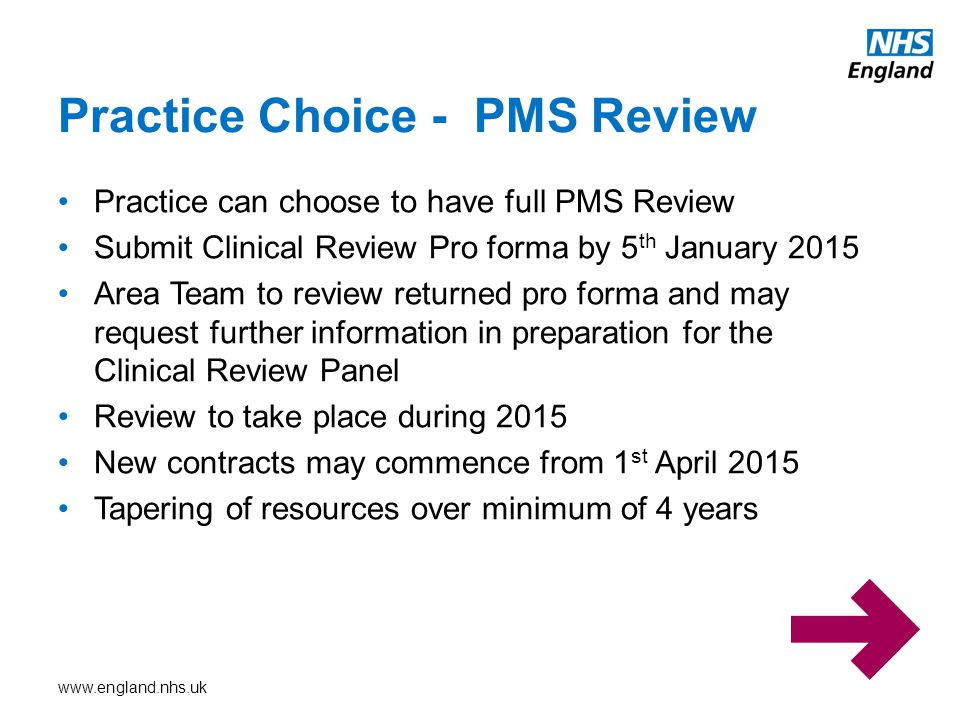 Practice Choice - PMS Review