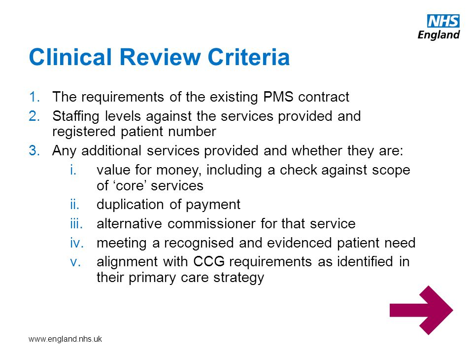 Clinical Review Criteria