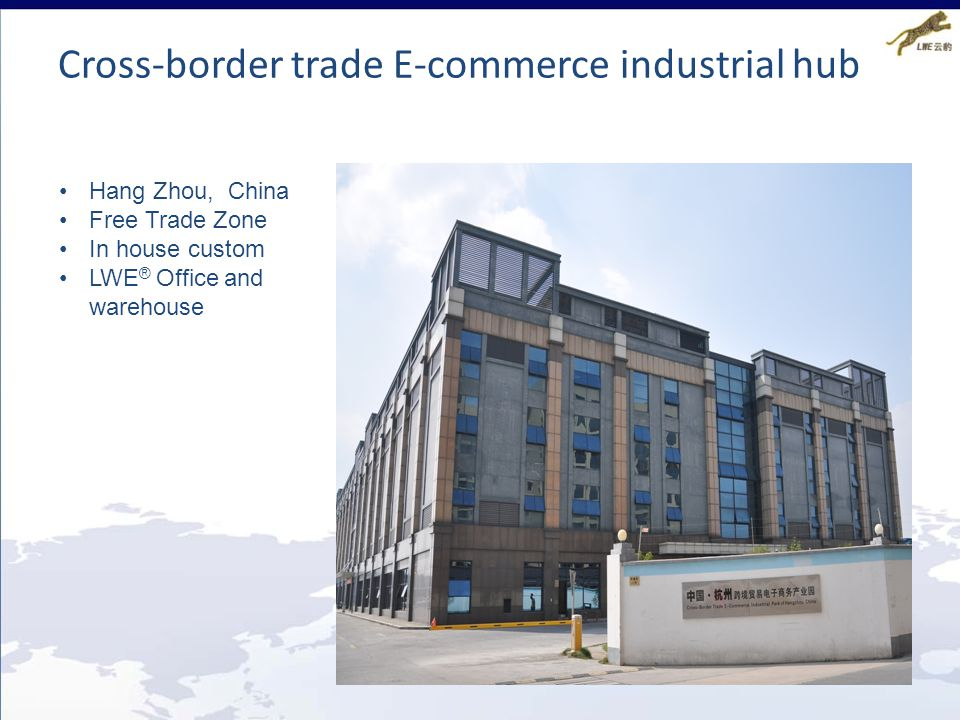 Cross-border trade E-commerce industrial hub