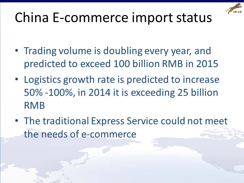 China E-commerce import status