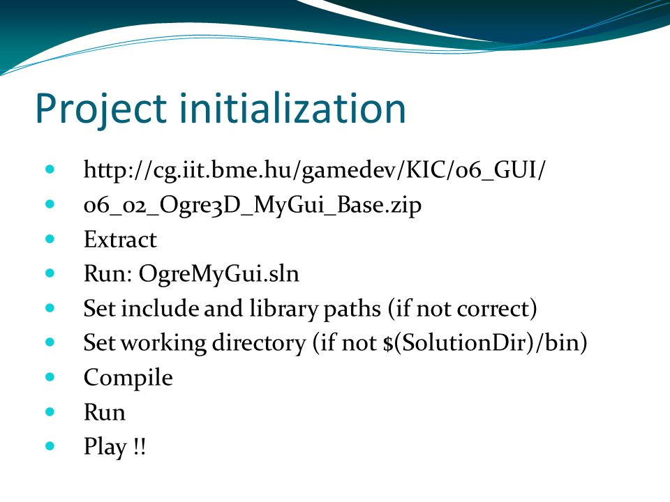 Project initialization