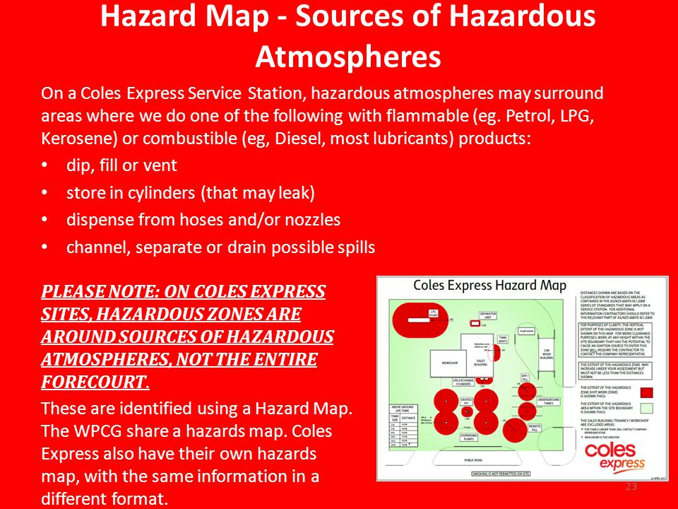 Hazard Map - Sources of Hazardous Atmospheres