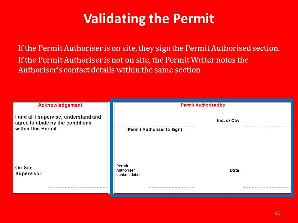 (Permit Authoriser to Sign)