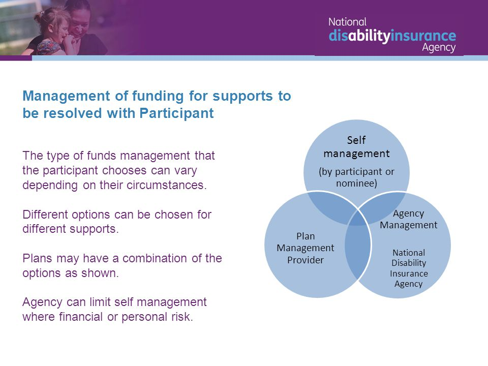 Management of funding for supports to be resolved with Participant