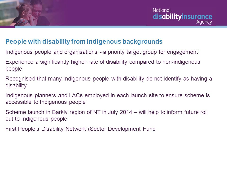 People with disability from Indigenous backgrounds