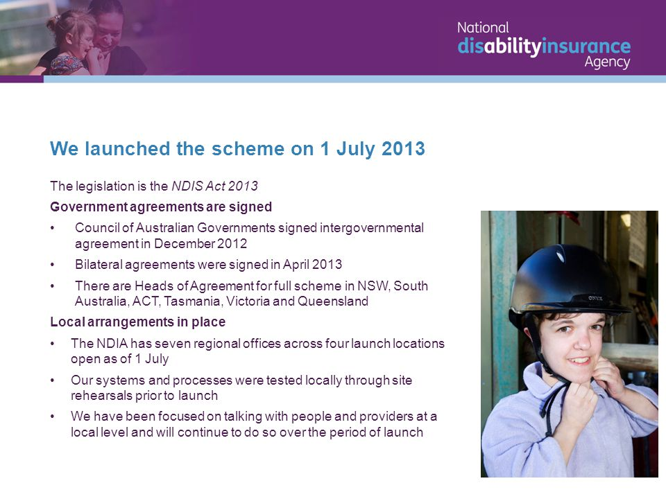 We launched the scheme on 1 July 2013