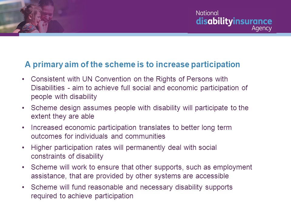 A primary aim of the scheme is to increase participation