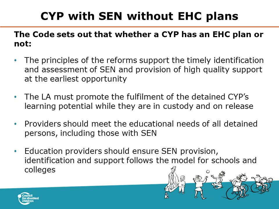 CYP with SEN without EHC plans