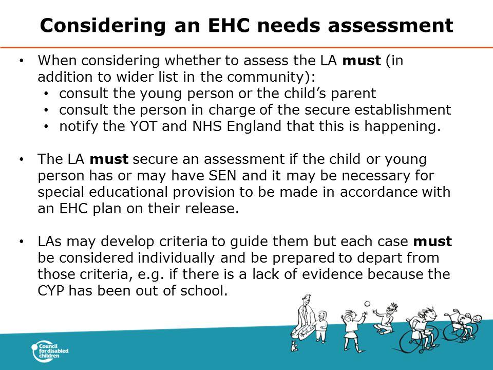 Considering an EHC needs assessment