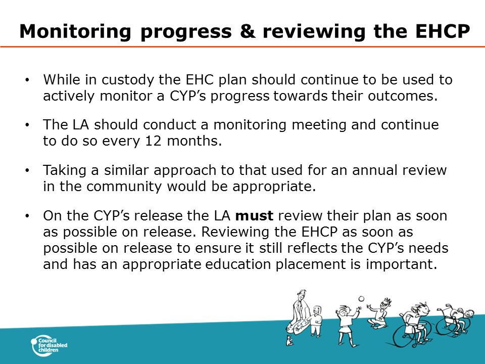 Monitoring progress & reviewing the EHCP