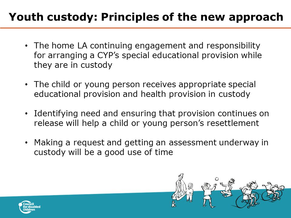 Youth custody: Principles of the new approach