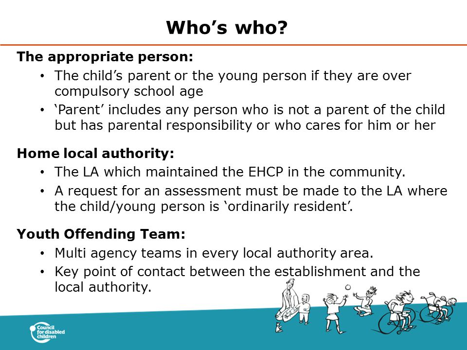 Who's who The appropriate person: