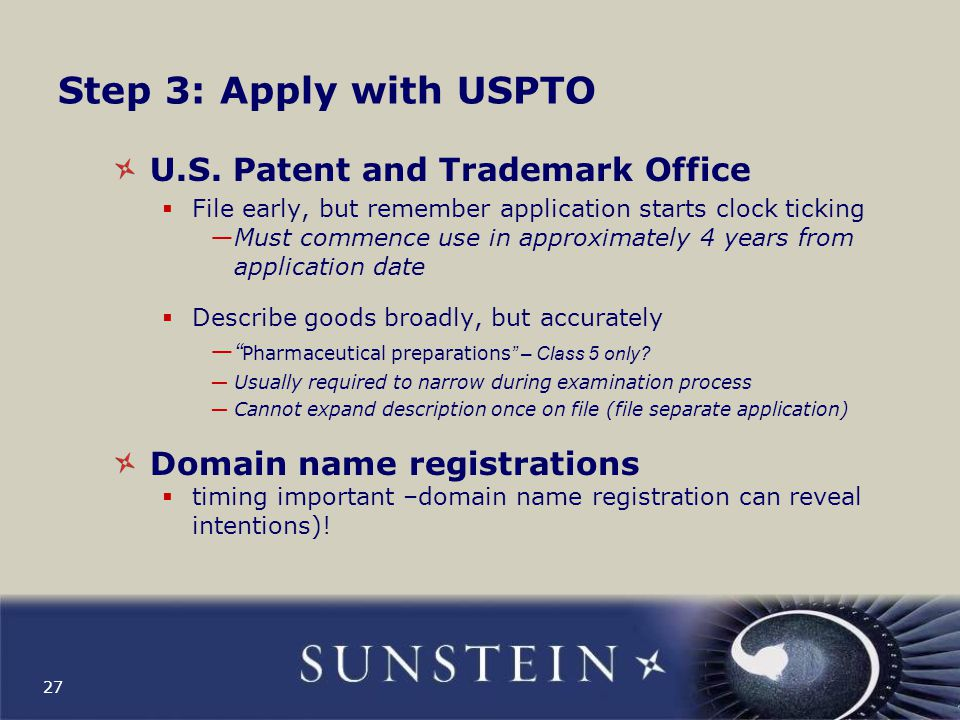 Step 3: Apply with USPTO U.S. Patent and Trademark Office