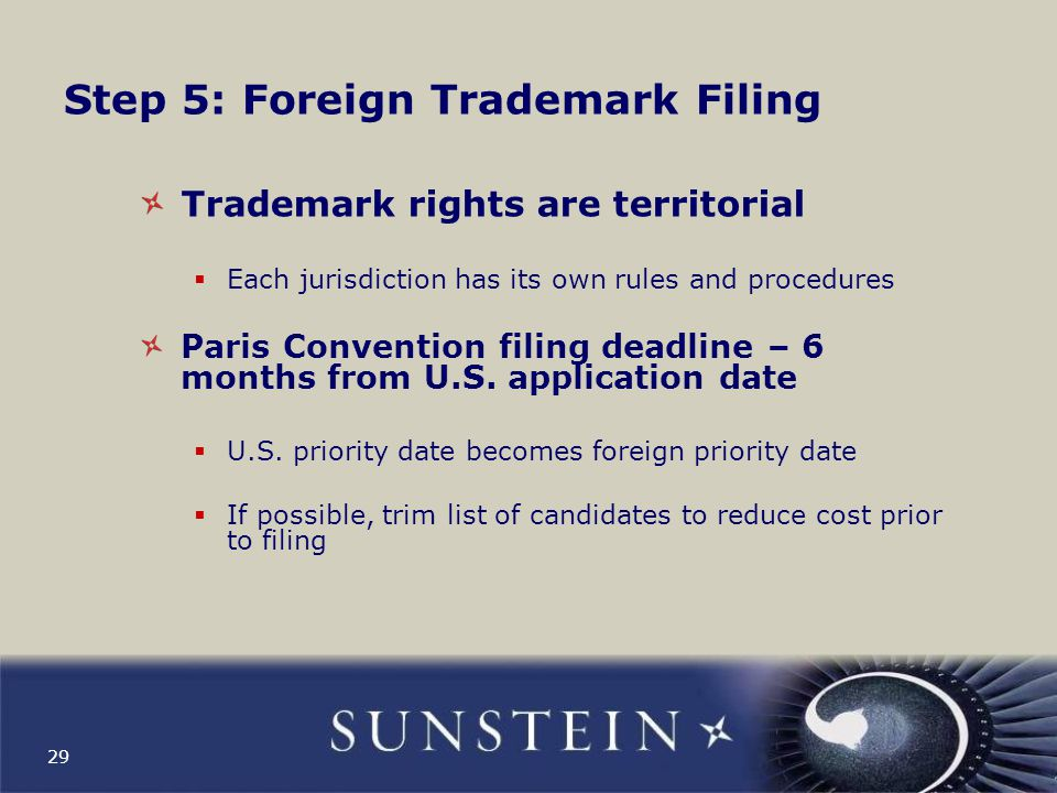 Step 5: Foreign Trademark Filing